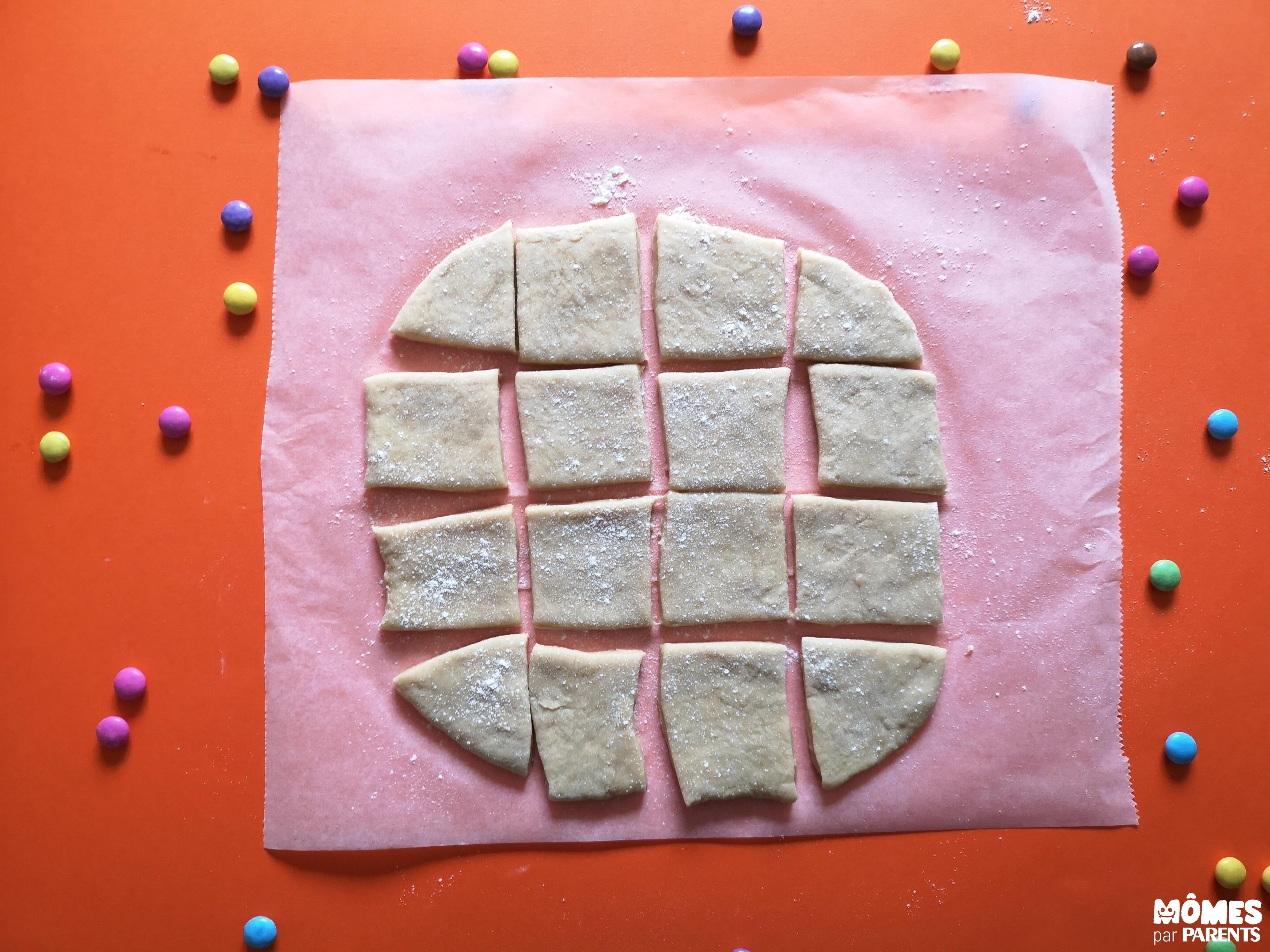 pâte découpée beignets