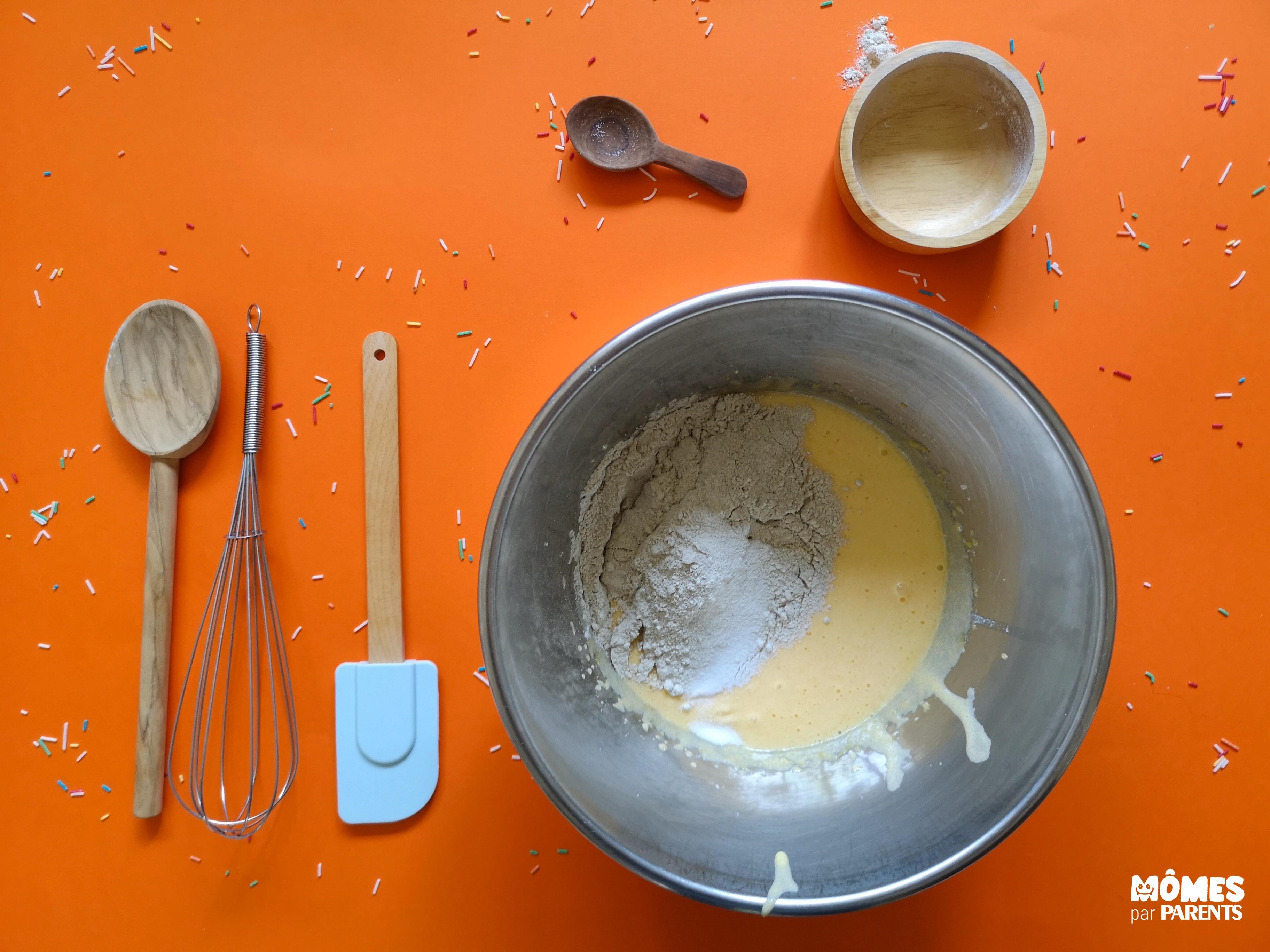 pâte gâteau choco étape 1