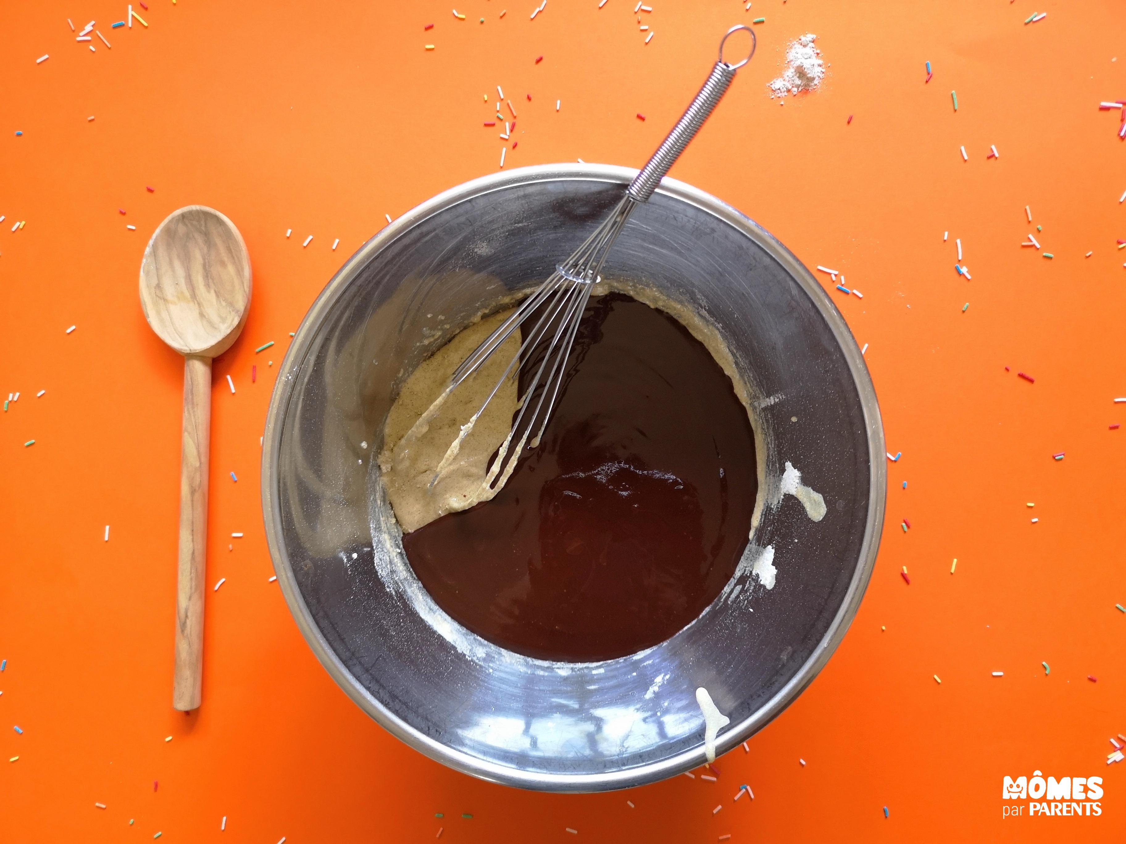 pâte gâteau choco étape 2