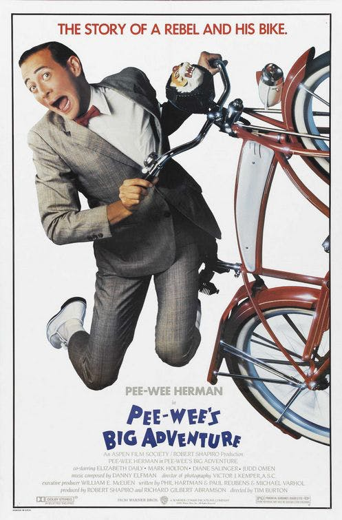 Affiche Pee Wee's Big Adventure