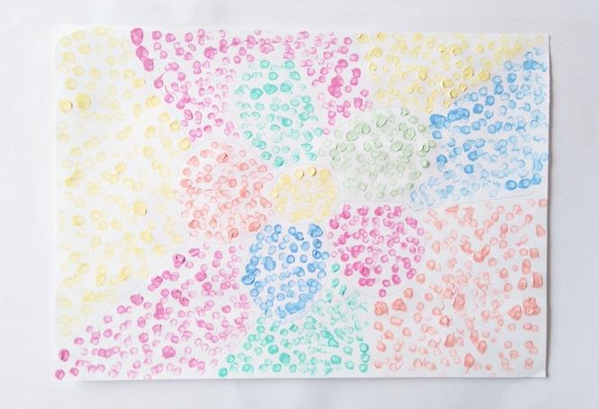 peindre avec des coton tiges