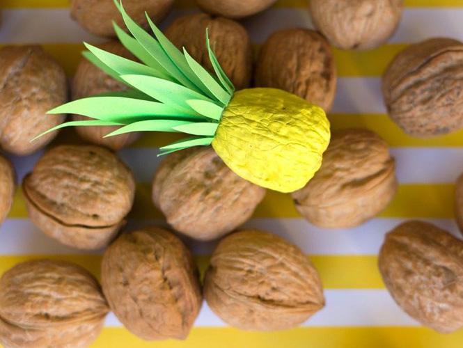 Peindre une noix ananas for Peindre facilement