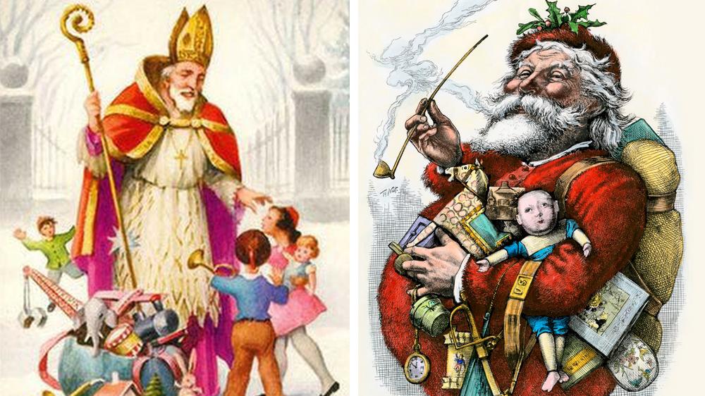 Saint Nicolas et le Père Noël de Thomas Nast