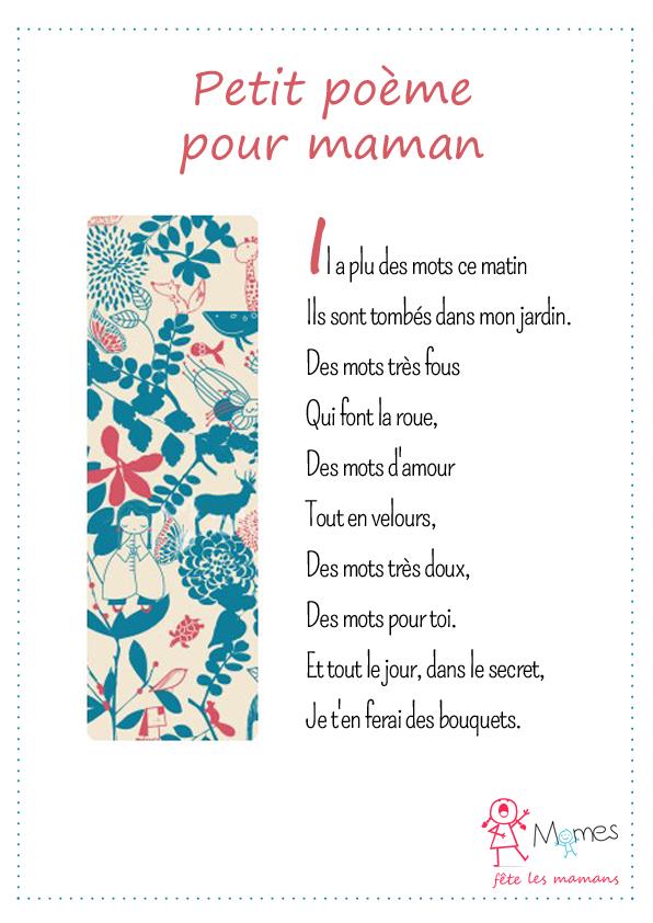 poème fête des mères bouquet de mots