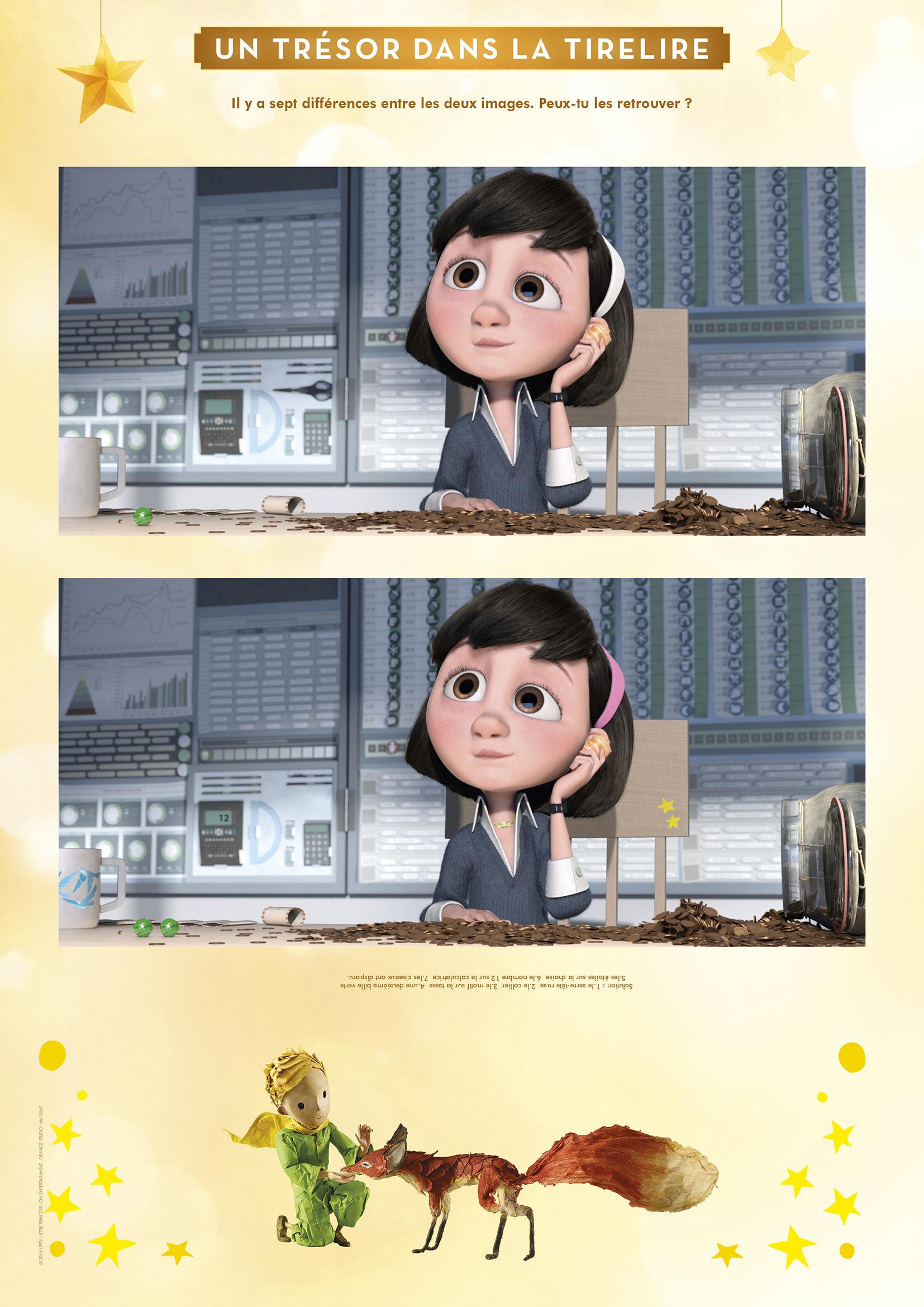 Petit Prince : le jeu des 7 différences
