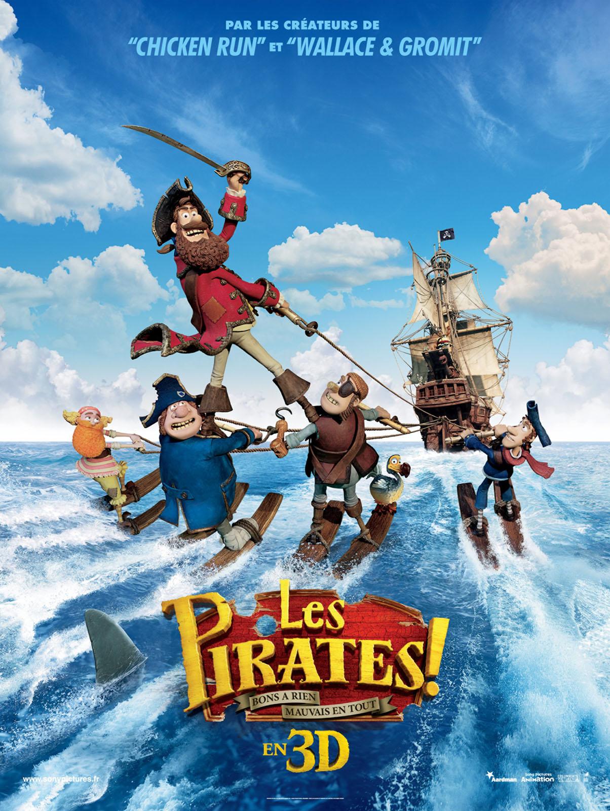 Affiche Pirates, bons à rien, mauvais en tout
