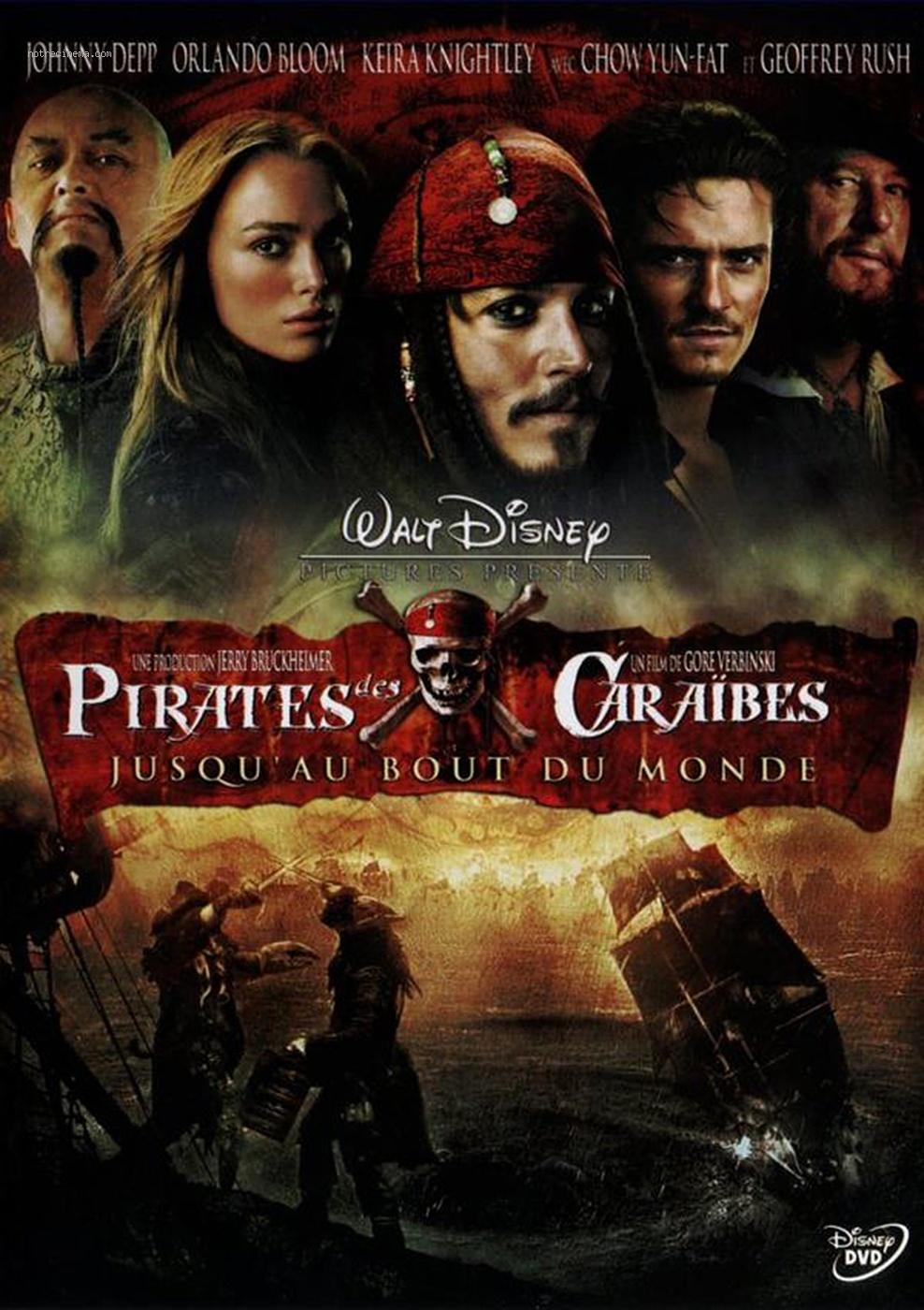 Affiche Pirates des Caraïbes - Jusqu'au bout du monde