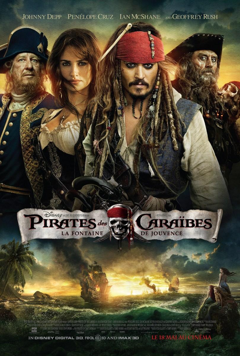 Affiche Pirates des Caraïbes - Fontaine de Jouvence