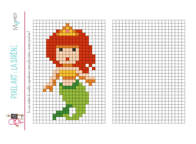 Pixel Art La Sirène Momesnet