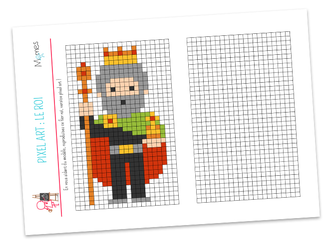 Pixel art Roi