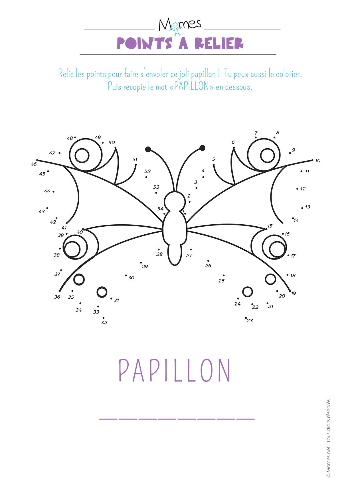 points relier le papillon. Black Bedroom Furniture Sets. Home Design Ideas