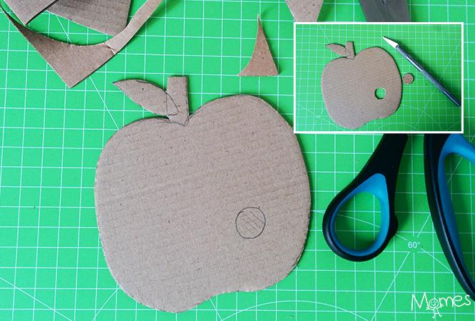 pomme en carton