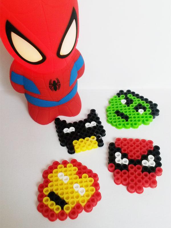 porte-clés super-héros en perles chauffantes - momes