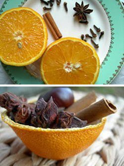 Pot-pourri dans son orange