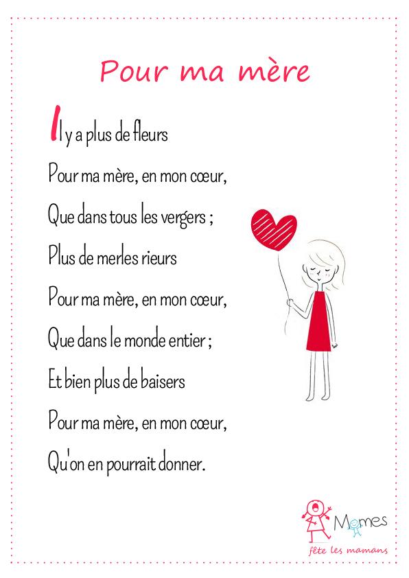 poème Pour ma mère
