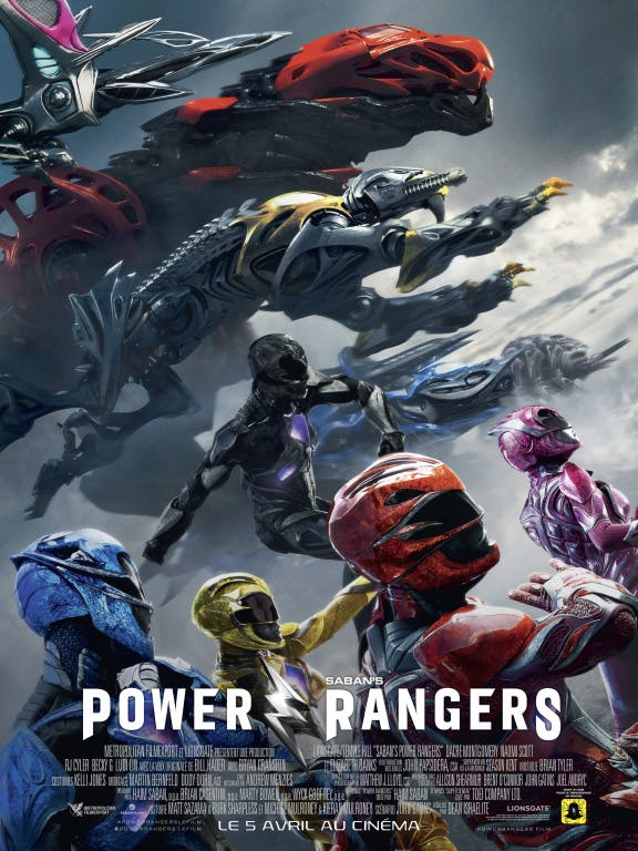 Power rangers, l'affiche