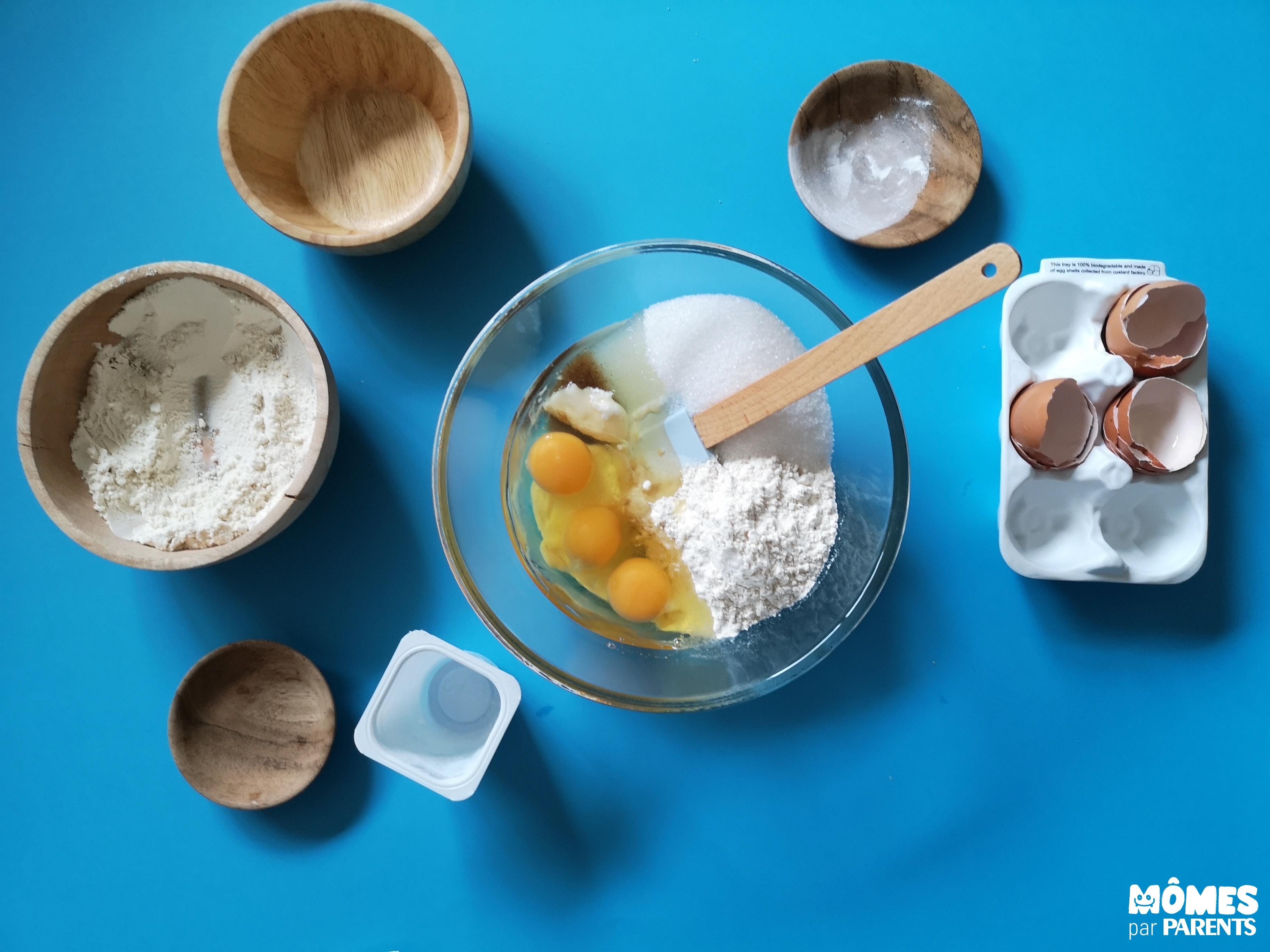 préparer pâte gâteau yaourt