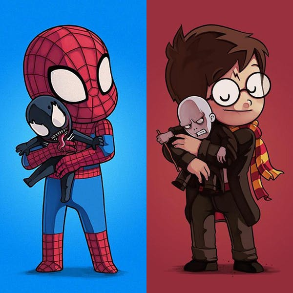 dessins héros doudou ennemi Nacho Diaz
