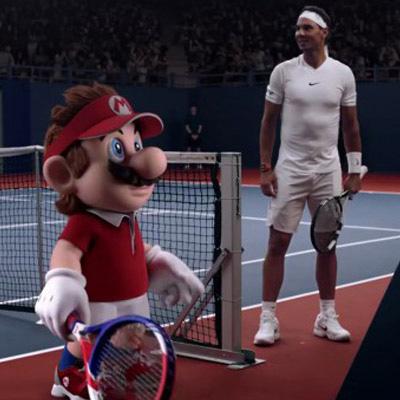 Quand Rafael Nadal affronte Mario au tennis...