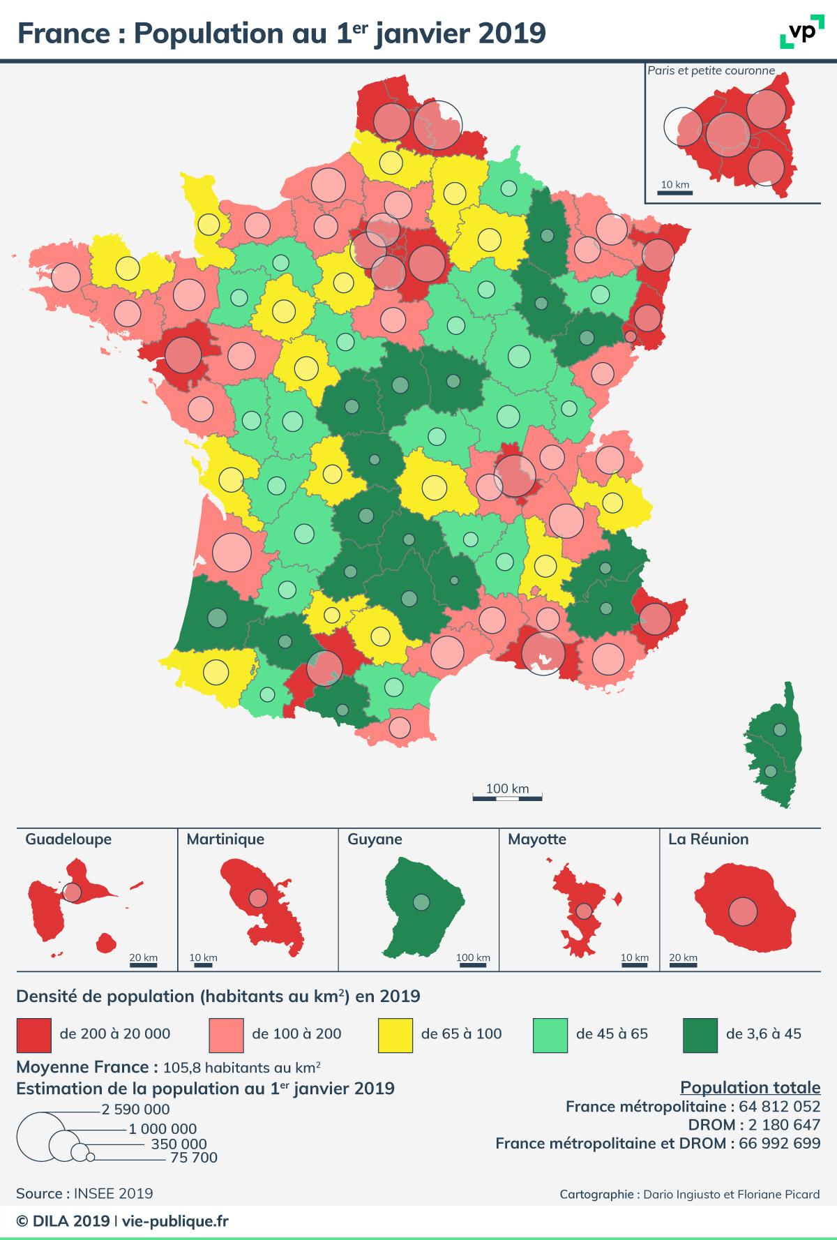 carte population France