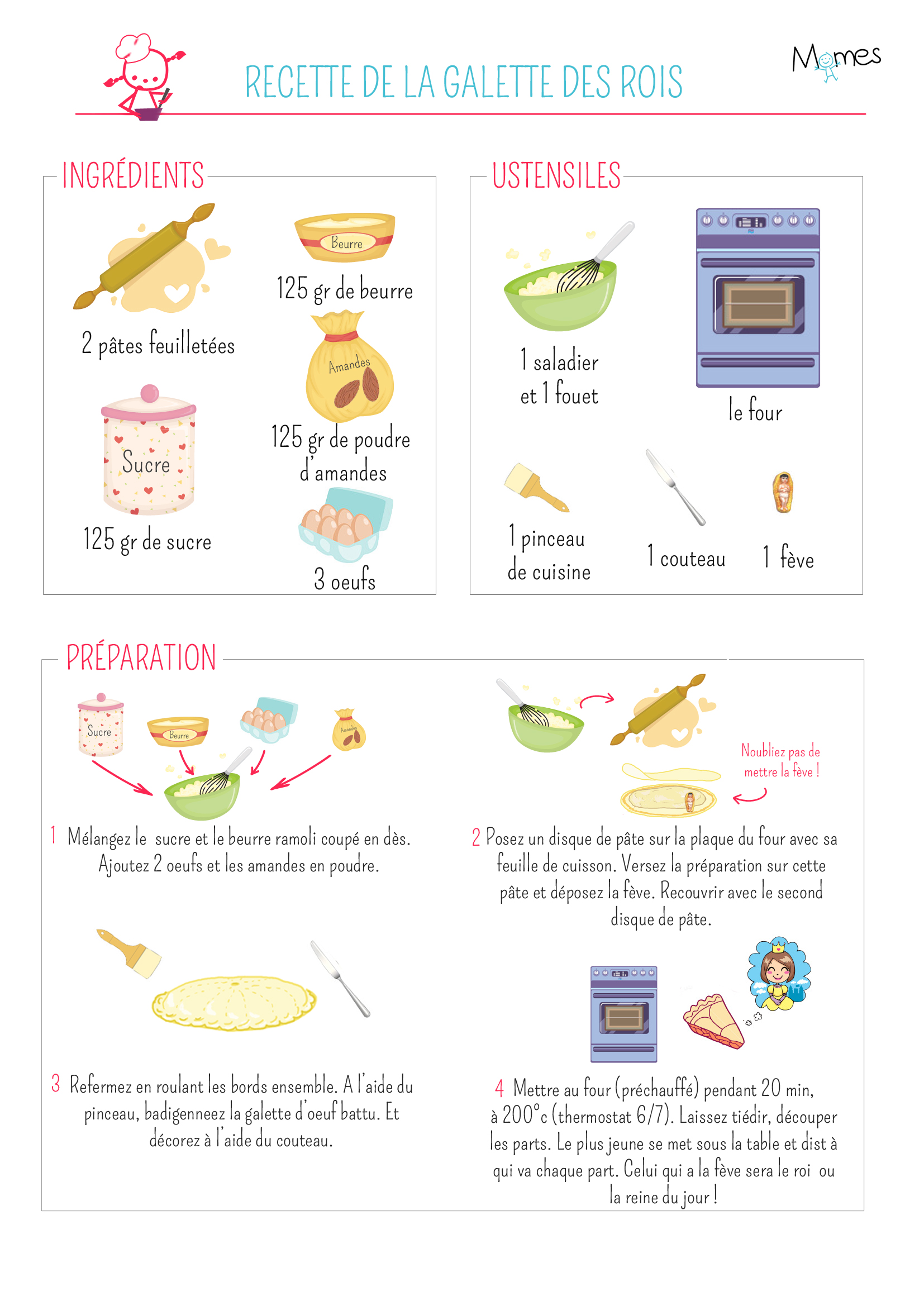 Recette et texte et image la galette des rois - Jeux de fille cuisine et patisserie gratuit en francais ...