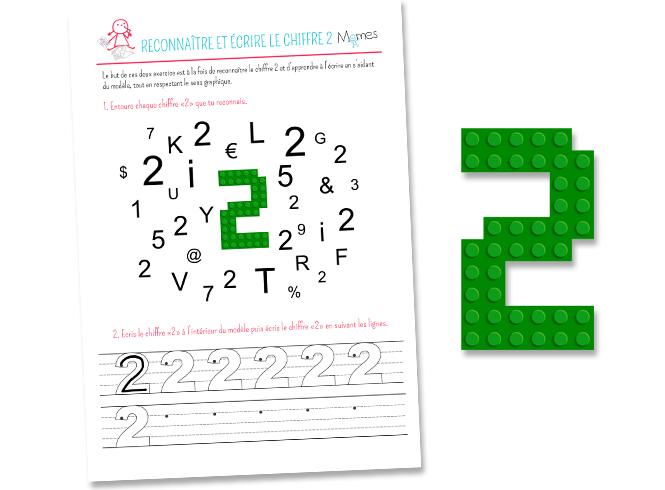 Ecrire et reconnaitre chiffre 2
