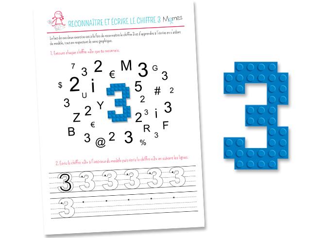 Reconnaître et écrire le chiffre 3