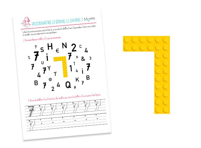 Reconnaître et écrire le chiffre 7