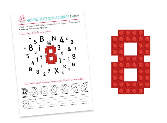 Reconnaître et écrire le chiffre 8