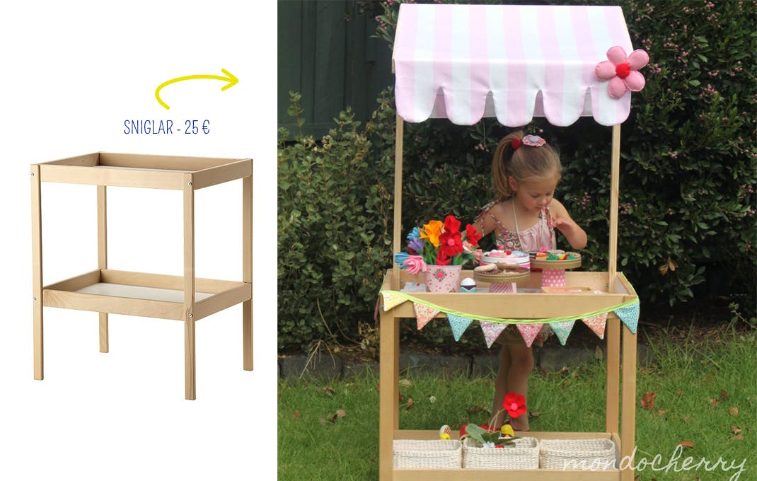 Recycler la table langer en petite picerie - Table a langer pliable ikea ...