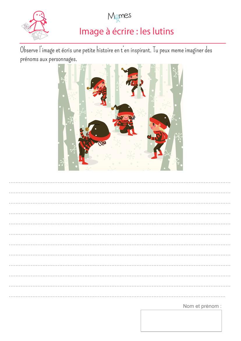 exercice de rédaction a partir d'une image de lutins