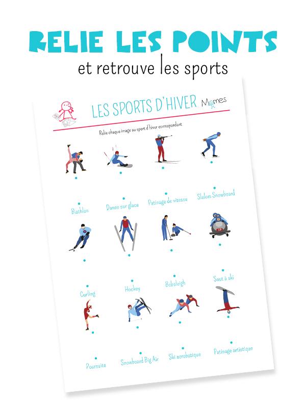 Relier les points les sports d 39 hiver - Jeux a relier les points gratuit ...
