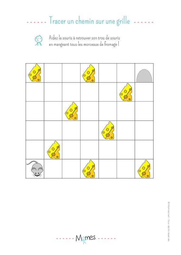 Retrouver son chemin sur une grille : exercice 2