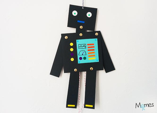 robots en papier enfant