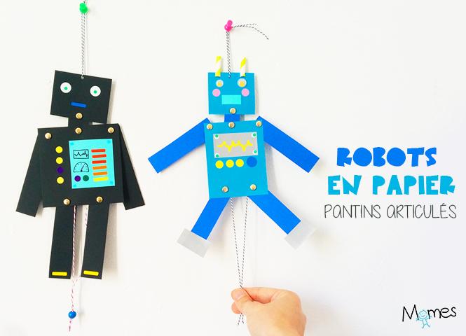 fabriquer un robot en papier