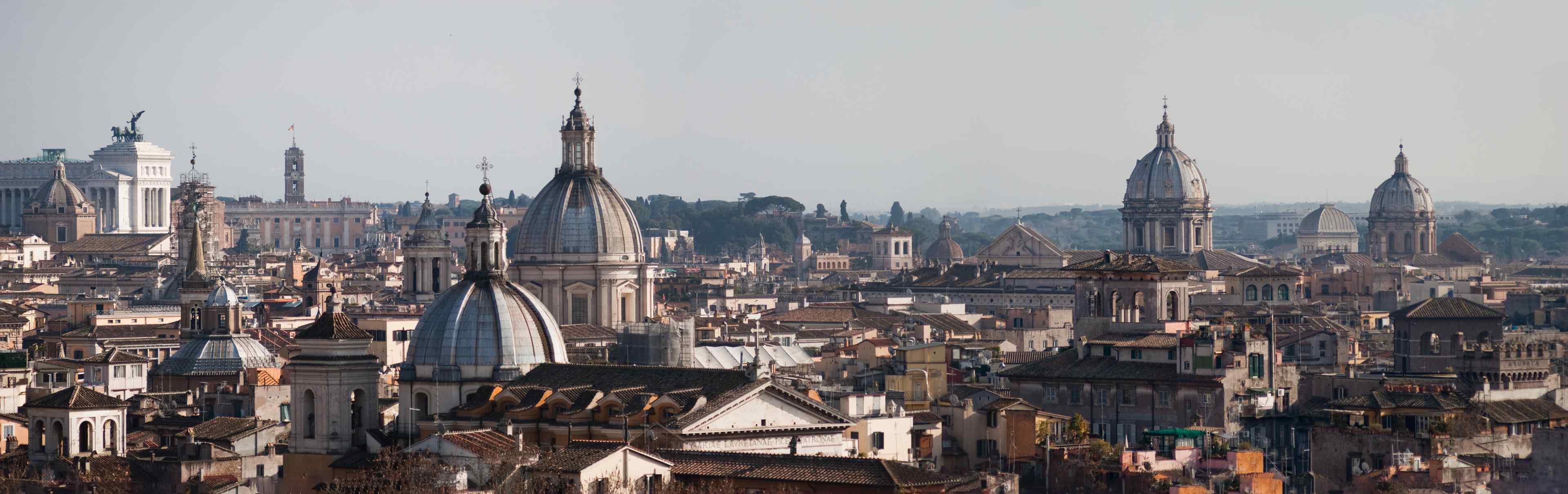 Vue panoramique de Rome