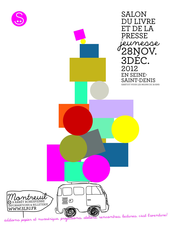 Affiche Salon du livre et de la presse jeunesse 2012