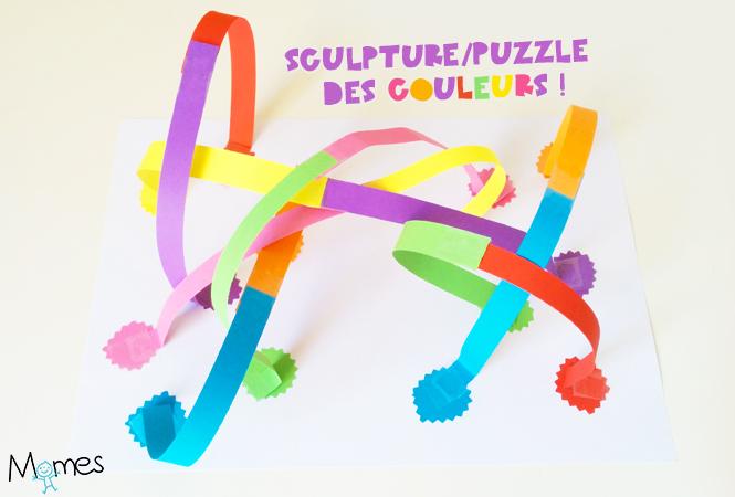 sculpture papier couleur