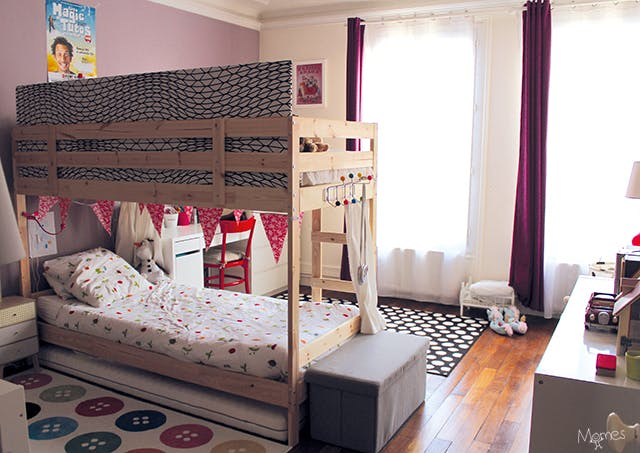 s parer une chambre pour 2 enfants avec un lit superpos. Black Bedroom Furniture Sets. Home Design Ideas