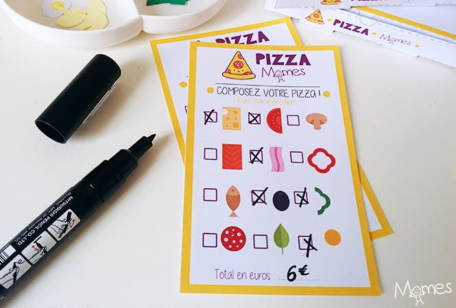 menu pizza enfant