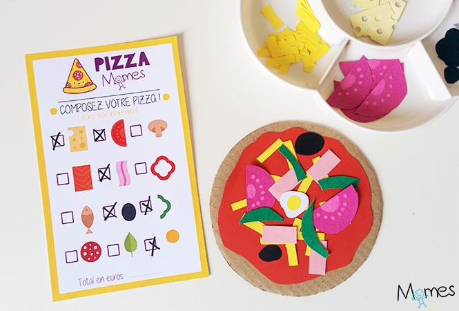 pizza à imprimer