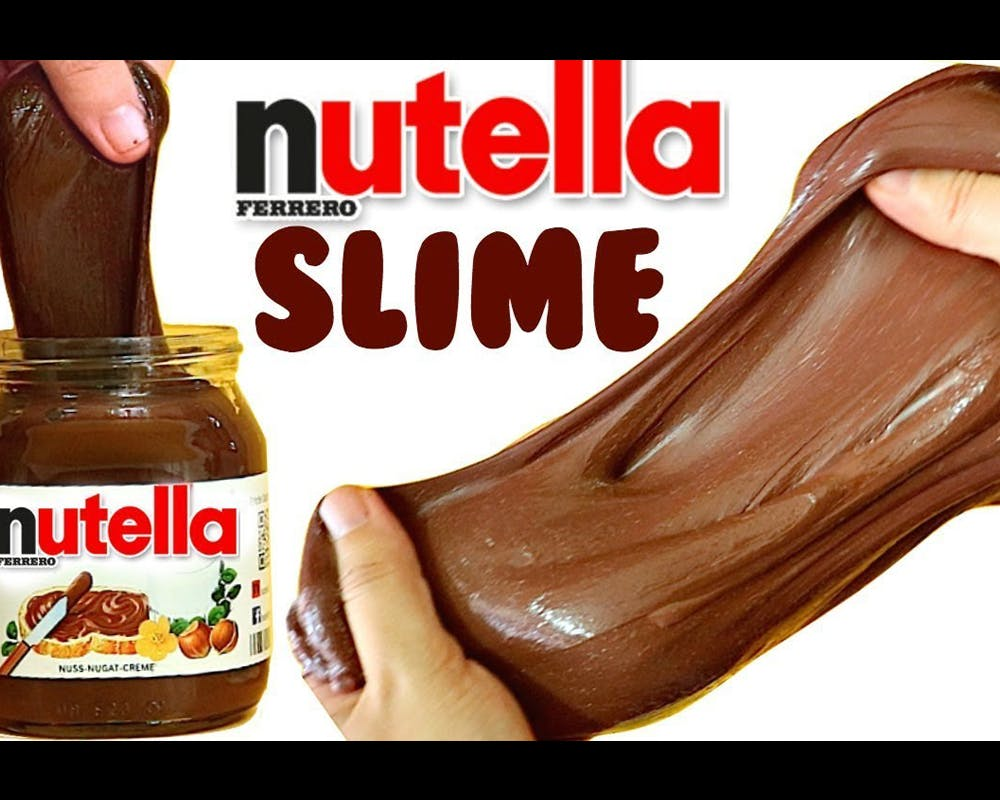 Slime 20 idées Slime comestible nutella