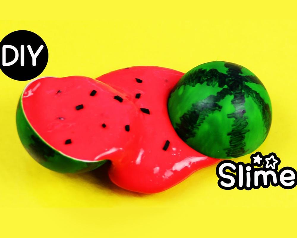 slime 20 idées Slime pastèque