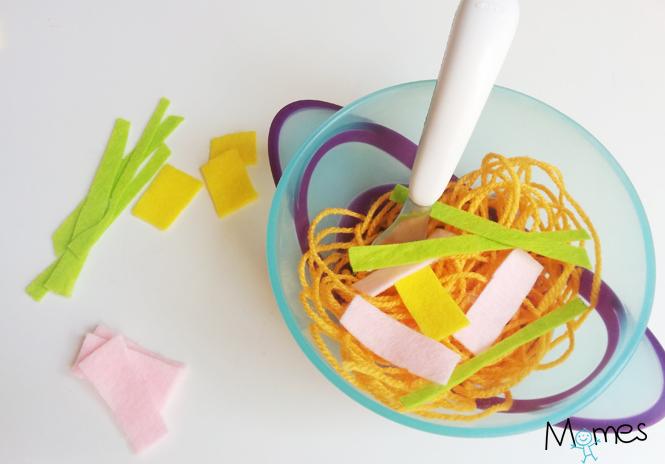 tuto spaghettis laine