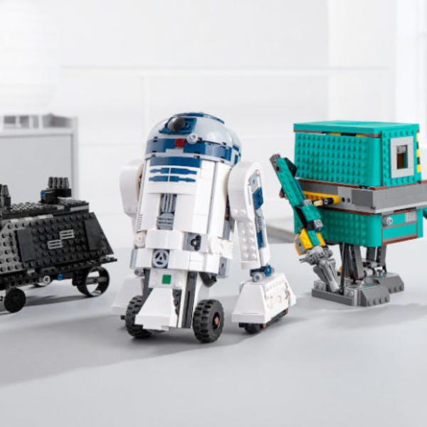 kit lego star wars boost droid commander robot à programmer code R2D2