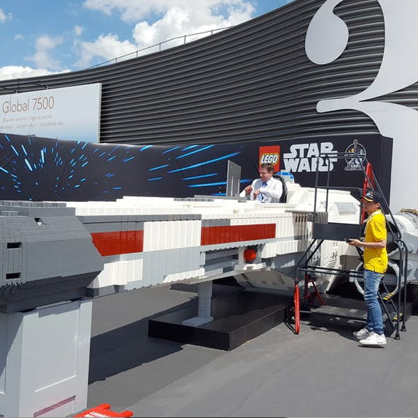 Star Wars Lego vaisseau X-Wing Starfighter Salon du Bourget 2019