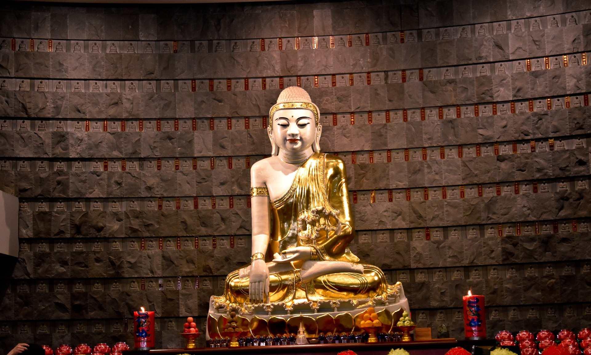 Statue de Bouddha dans un temple