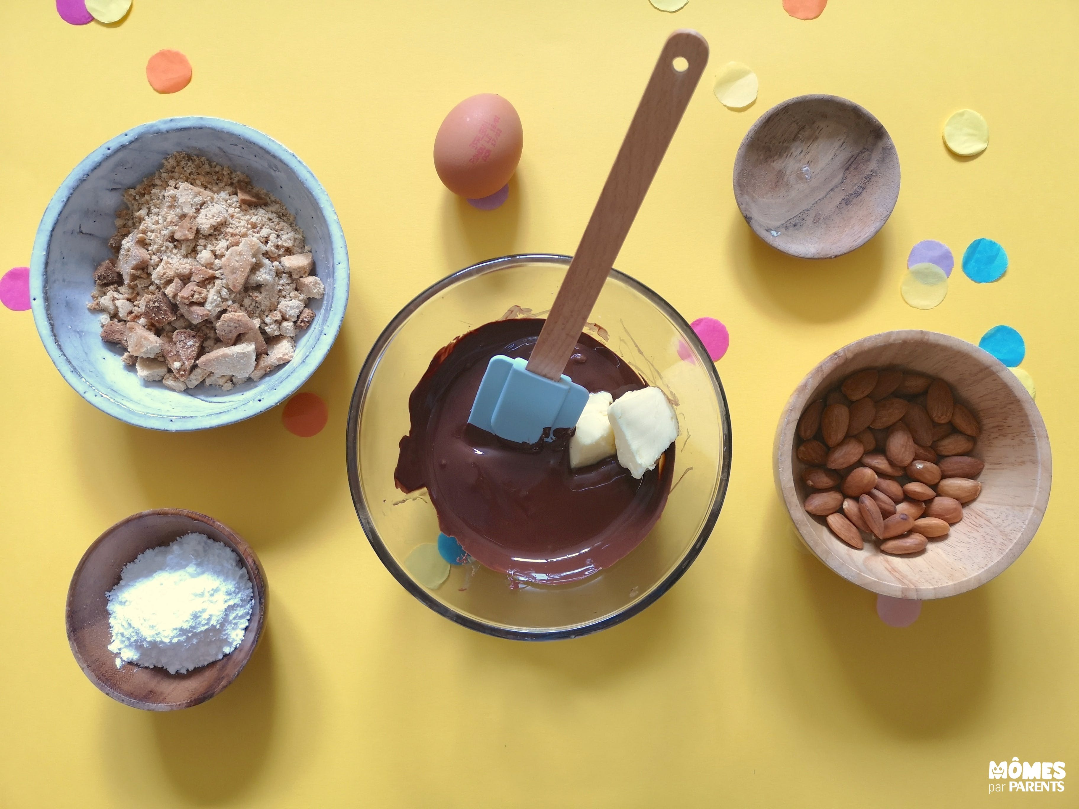 step 1 saucisson chocolat