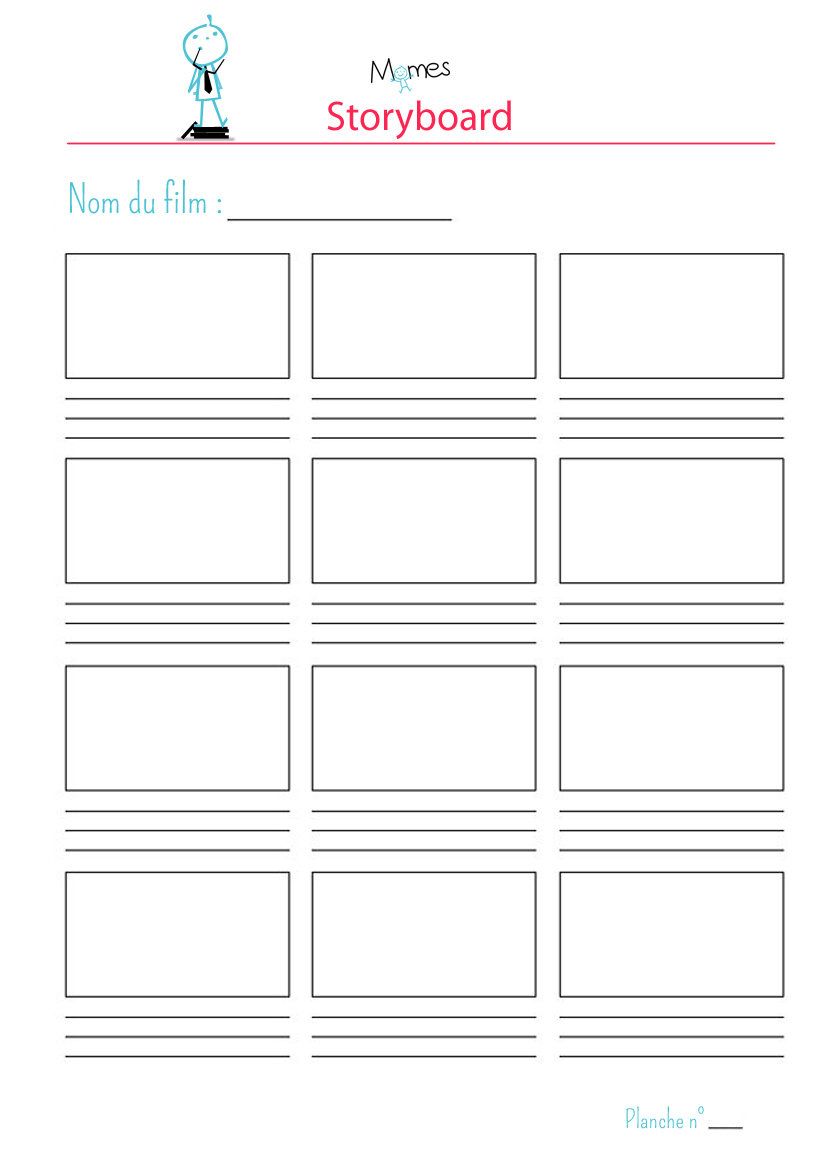 Story-board à imprimer