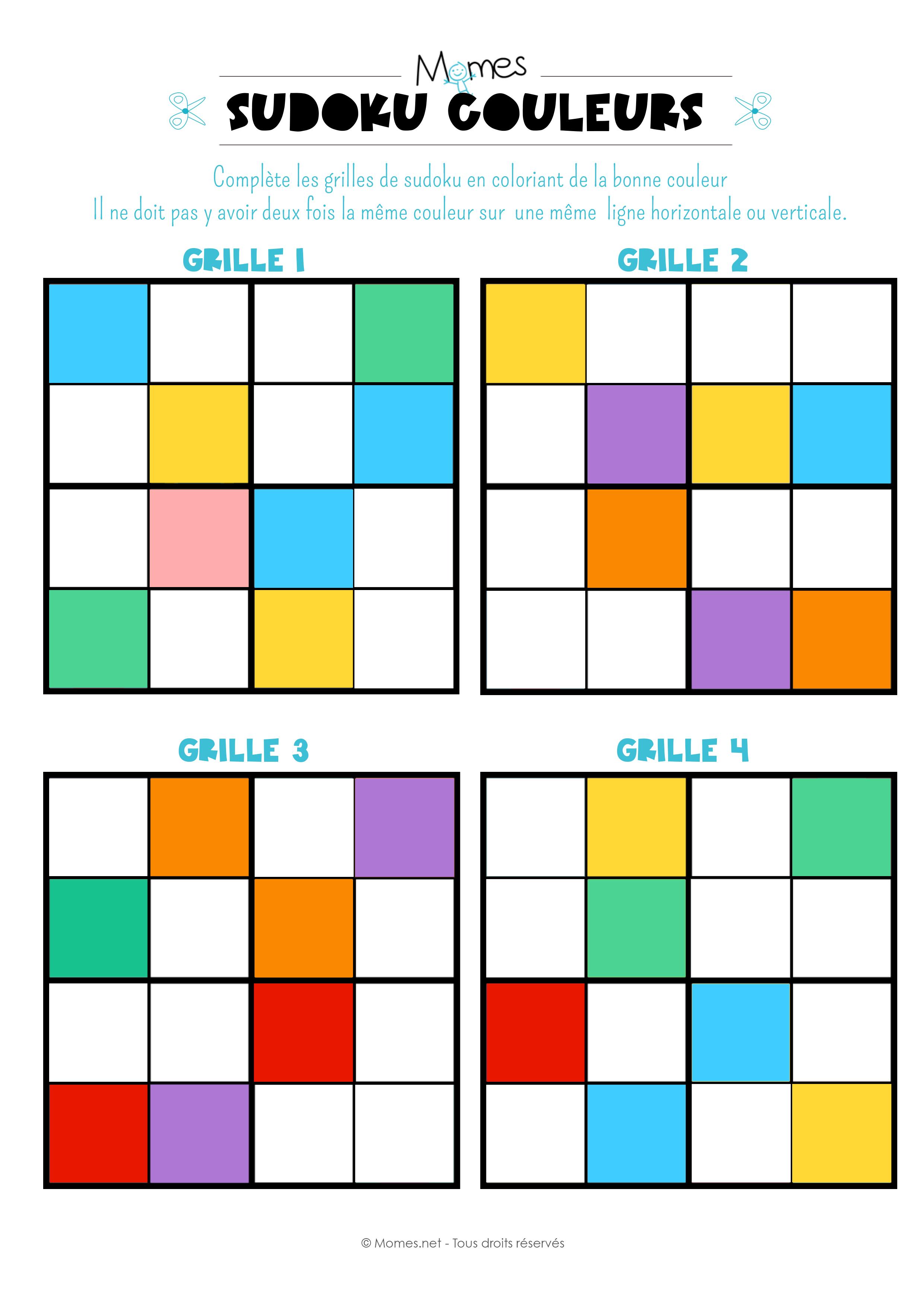 Préférence Sudoku des couleurs - Momes.net SK11
